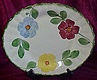 "Blue ridge Pottery 11 3/4"" platter, flower ring pattern"