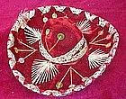 """Vintage 6"""" Mexican souvenir velvet sombrero"""