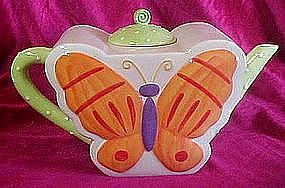 Ellen Crans  ceramic Butterfly Tea pot,  Coynes & Co