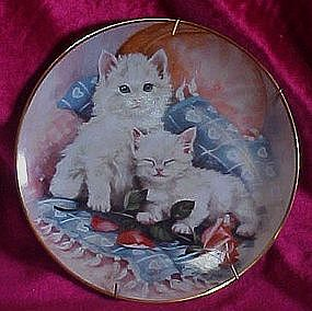 Purrfectly  Precious collector plate/ Franklin Mint