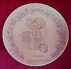 """Precious Moments 4"""" Mini plate """"Happy Anniversary"""""""