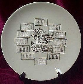 Calendar plate 1975, four seasons