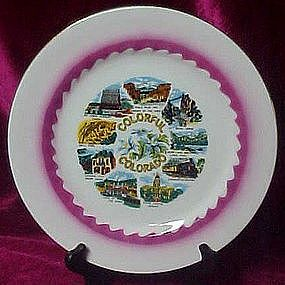 Scenic souvenir plate of Colorful Colorado