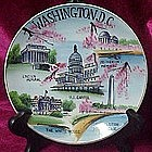 Vintage hand painted Washington D.C. souvenir plate
