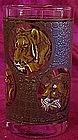 "Safari  African animal 5"" glass  water tumbler"