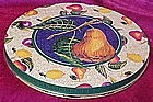 Large flat tin, fruit designs