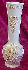 Vintage bisque cherub bud vase