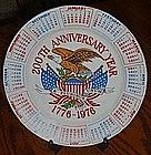 200th Anniversary  calendar plate, 1776-1976, bicentenn