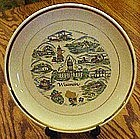 Souvenir  Wisconsin state plate, with scenic points