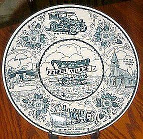 Ironstone souvenir plate, Harold Warp Pioneer Village