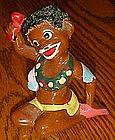 vintage Enesco African native figurine, coleslaw hair
