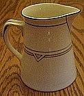 Steubenville China, deco pattern cream pitcher