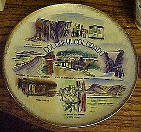 Vintage souvenir state plate of Colorful Colorado