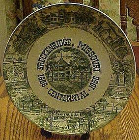 Breckenridge Missouri Centennial souvenir plate