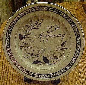 25th silver wedding anniversary plate,  by George Good