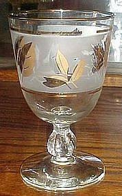 "Libby Golden Foliage 5 1/2"" water goblet"