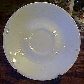 Corelle all white saucer, no pattern