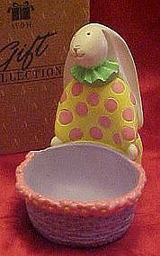 Avon bunny clown Easter egg holder., boxed