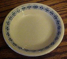 "McNichol  5 1/8""  fruit bowl, blue cross stitch border"