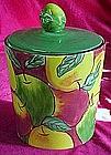Clay Art Apple Medley Cookie Jar, hand painted
