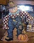 Home Interior (?) Scarecrow tin lantern, for votive