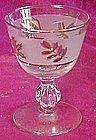 "Libbey  Golden foliage 3 7/8"" liquor / cocktail glass"