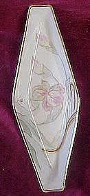 A Lanternmier, Limoges hand painted floral dish, 1890