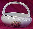 Porcelain flower basket, floral decoration