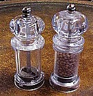 Nice lucite salt and pepper mill shakers