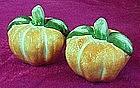 Ceramic pumpkin salt and pepper shakers