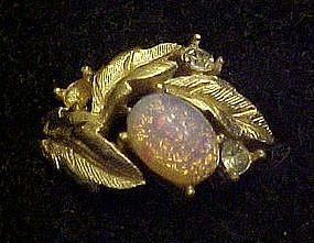 Vintage 1972 Avon Fire Flower ring, opal