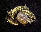 Vintage 1972 Avon Fire Flower ring, opal
