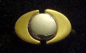 Vintage 1976 New Dimensions Avon ring, gold and silver