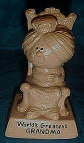Berries silisculpt  figurine, Worlds best Grandma