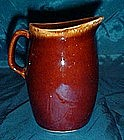 Hull mirror brown drip pitcher 4 5/8""