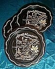 Set of four Minnesota souvenir coasters, black metal