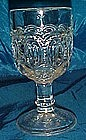 "LG Wright moon and star, clear 4 5/8"" wine goblets"