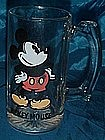 Mickey Mouse glass mug
