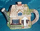Cottage house shape  ceramic teapot