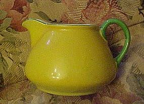 Vintage Japan  porcelain creamer, yellow and green