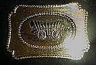 Covered wagon western  belt buckle, silver & gold