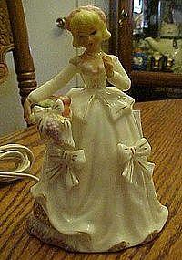 Vintage lady perfume lamp. Lefton? Enesco?