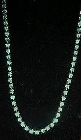 Vintage pale blue rhinestone tennis choker / necklace