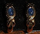 Avon Blue Iris clip earrings