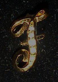 Avon Inital Sparkle Pin, letter F