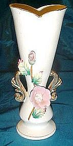 Vintage Ucagco vase with applied flowers