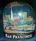 San Francisco 3-d  plastic souvenir water globe