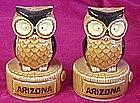 Retro owl shakers, souvenir of Arizona