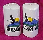 Heart shape ceramic  souvenir shakers from Alaska