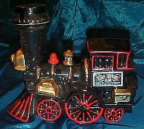Ezra Brooks black train decanter
